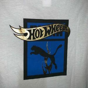 Puma x Hot Wheels Mens White Blue Black Med Shirt